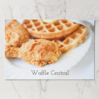 Waffles and fried chicken paper placemat