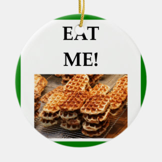 waffles ceramic ornament