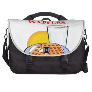 WAFFLES LAPTOP MESSENGER BAG