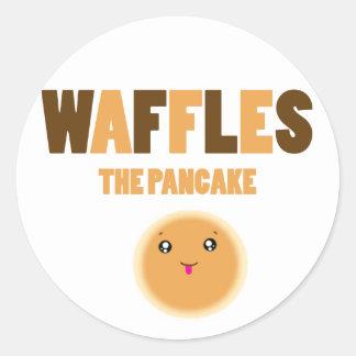 waffles los pegatinas de la crepe pegatina redonda
