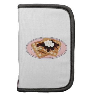WAFFLES ON PLATE FOLIO PLANNERS
