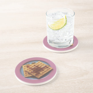 Waffles With Syrup Coasters