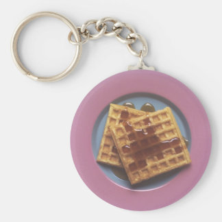 Waffles With Syrup Keychain