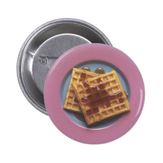 Waffles With Syrup Pinback Button