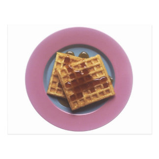 Waffles With Syrup Postcard