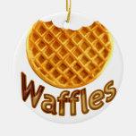 Waffles Yum Christmas Ornaments