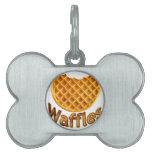 Waffles Yum Pet Name Tag