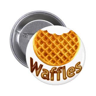 Waffles Yum Pinback Button