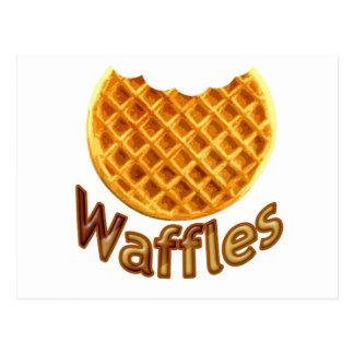 Waffles Yum Postcard