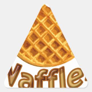 Waffles Yum Triangle Sticker