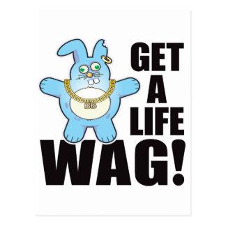 Wag Bad Bun Life Postcard