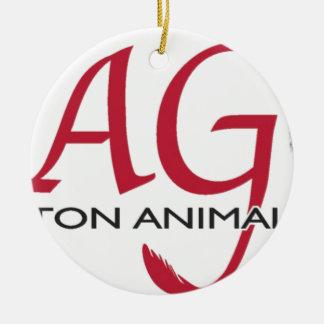 WAG logo color.jpg Ceramic Ornament