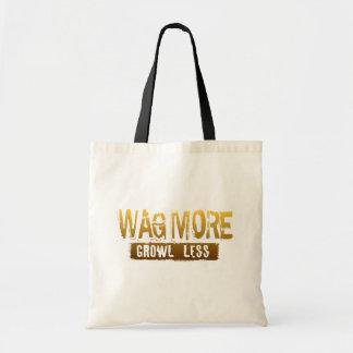 WAG MORE GROWL LESS TOTE BAG