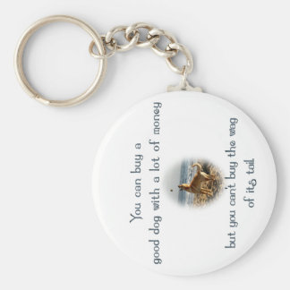 Wag of the Tail Basic Round Button Keychain