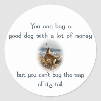 Wag of the Tail Classic Round Sticker