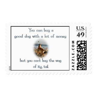 Wag of the Tail Postage Stamp