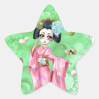 Wagashi Star Sticker