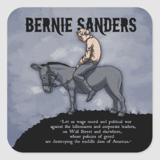 Wage Moral War Square Sticker