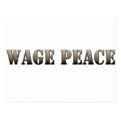Wage Peace  (army color) Postcard