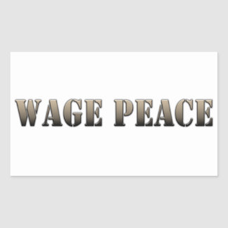 Wage Peace  (army color) Rectangular Sticker