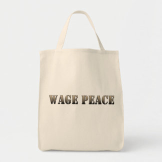 Wage Peace  (army color) Tote Bag