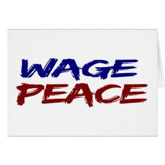 Wage Peace Card