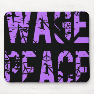 WAGE PEACE - ERODED MOUSE PAD