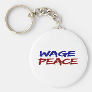 Wage Peace Basic Round Button Keychain