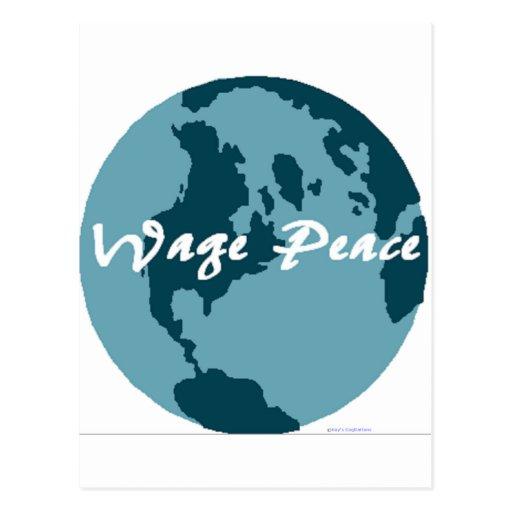 Wage Peace Postcards