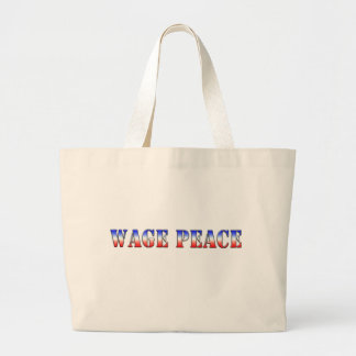 Wage Peace  (Red white & blue version) Bags
