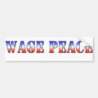 Wage Peace  (Red white & blue version) Bumper Sticker