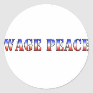 Wage Peace  (Red white & blue version) Classic Round Sticker