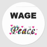 Wage Peace! Round Stickers