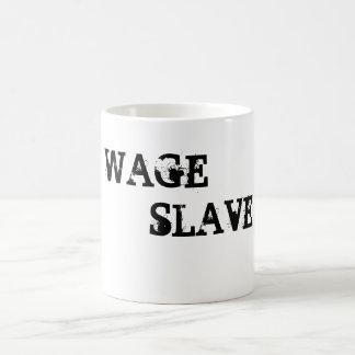 WAGE                           , SLAVE CLASSIC WHITE COFFEE MUG