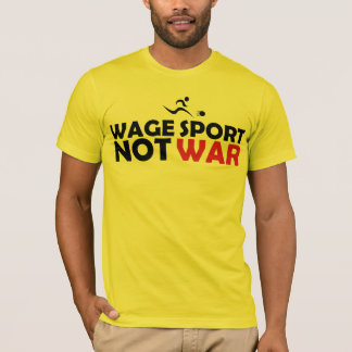 Wage Sport End War Yellow Tee