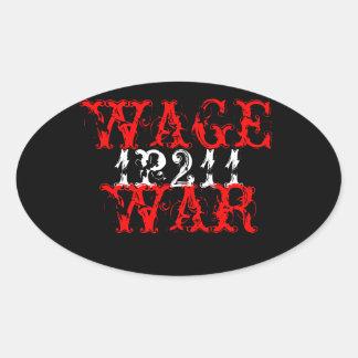 WAGE WAR S OVAL STICKER