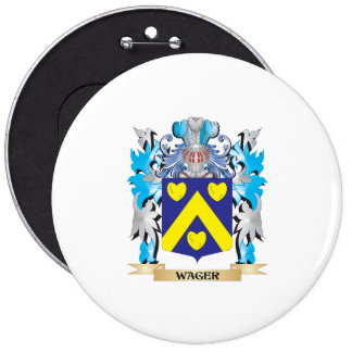 Wager Coat of Arms - Family Crest 6 Inch Round Button