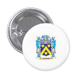 Wager Coat of Arms - Family Crest 1 Inch Round Button