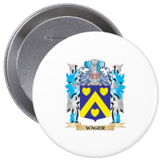 Wager Coat of Arms - Family Crest 4 Inch Round Button
