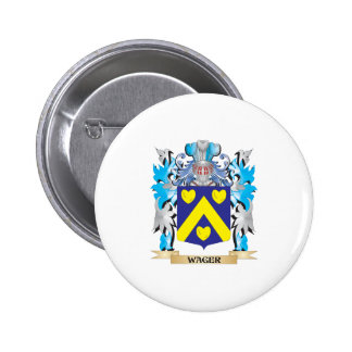 Wager Coat of Arms - Family Crest 2 Inch Round Button