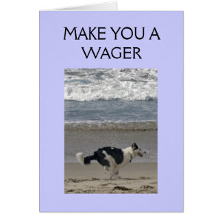 WAGER ON WHO WINS THE RACE! CARD