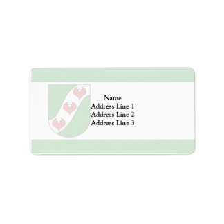 Wages, Germany flag Personalized Address Labels