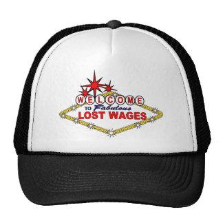 Wages_ perdido gorros bordados