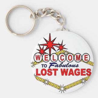 Wages_ perdido llaveros personalizados