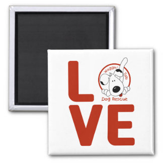 Waggin' Tails LOVE magnet