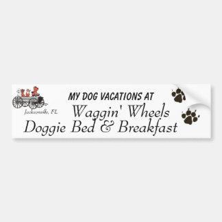 Waggin' Wheels Bumper Sticker