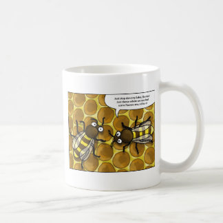 waggle dance OF the bees cartoon Coffee Mug