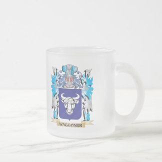 Waggoner Coat of Arms - Family Crest 10 Oz Frosted Glass Coffee Mug