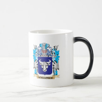 Waggoner Coat of Arms - Family Crest 11 Oz Magic Heat Color-Changing Coffee Mug