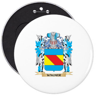 Wagner Coat of Arms - Family Crest 6 Inch Round Button